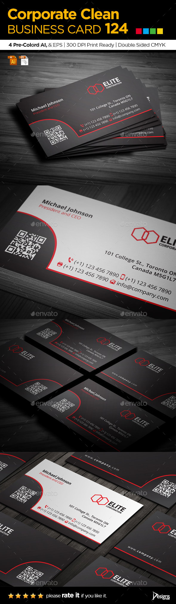 GraphicRiver Simple and Clean Business Card 124 9161591