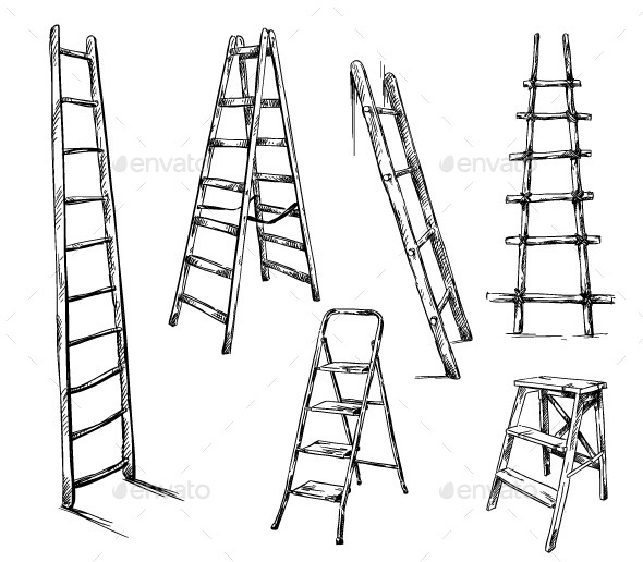 GraphicRiver Ladders Drawing Vector Illustration 9161788