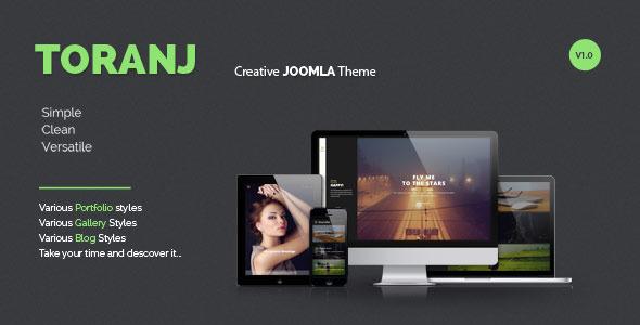 ThemeForest Toranj Responsive Creative Joomla Template 9161805