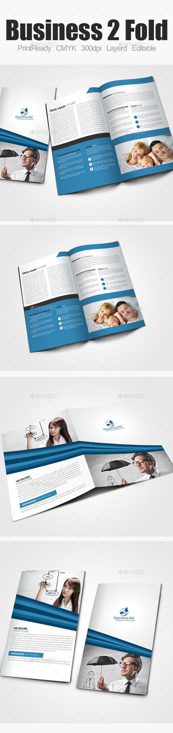 GraphicRiver Insurance Corporate Bi Fold Brochure 9162209