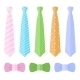 Set of Ties and Bow Ties. Vector - GraphicRiver Item for Sale