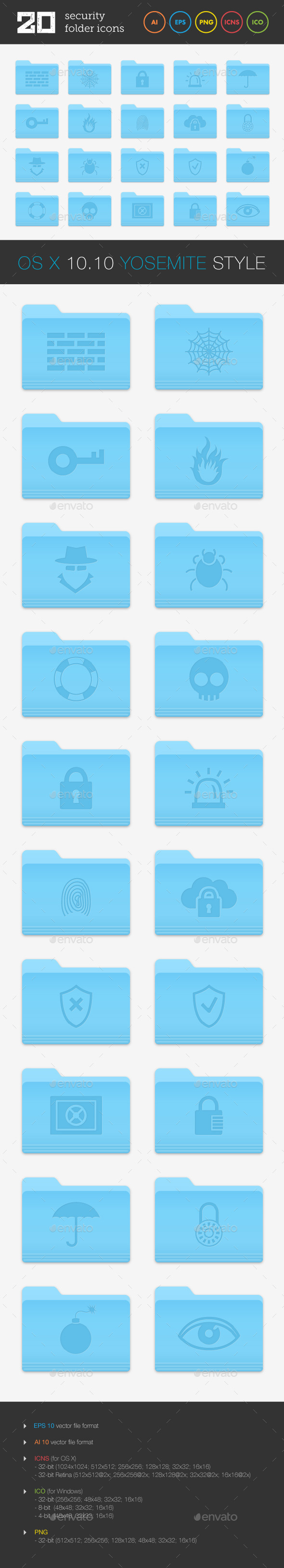 GraphicRiver Security Folder Icons Set 9162257