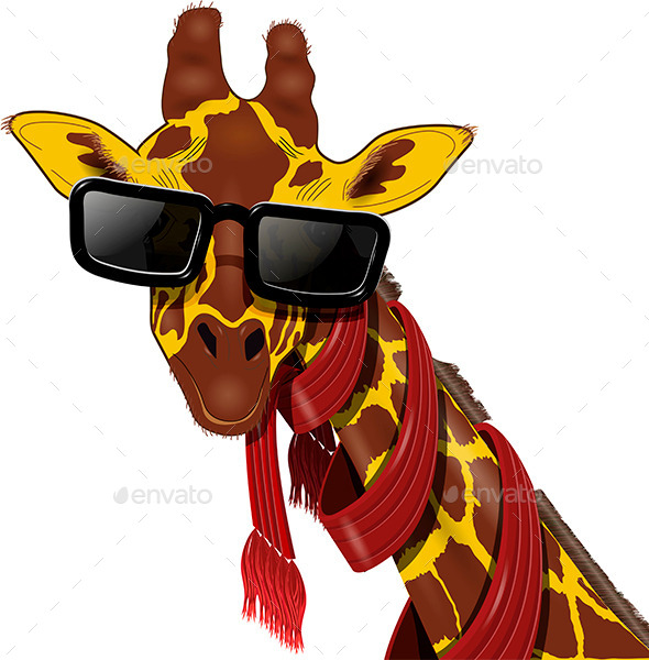 GraphicRiver Giraffe in Sunglasses 9162483