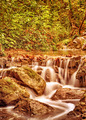 Waterfall in the autumn park - PhotoDune Item for Sale
