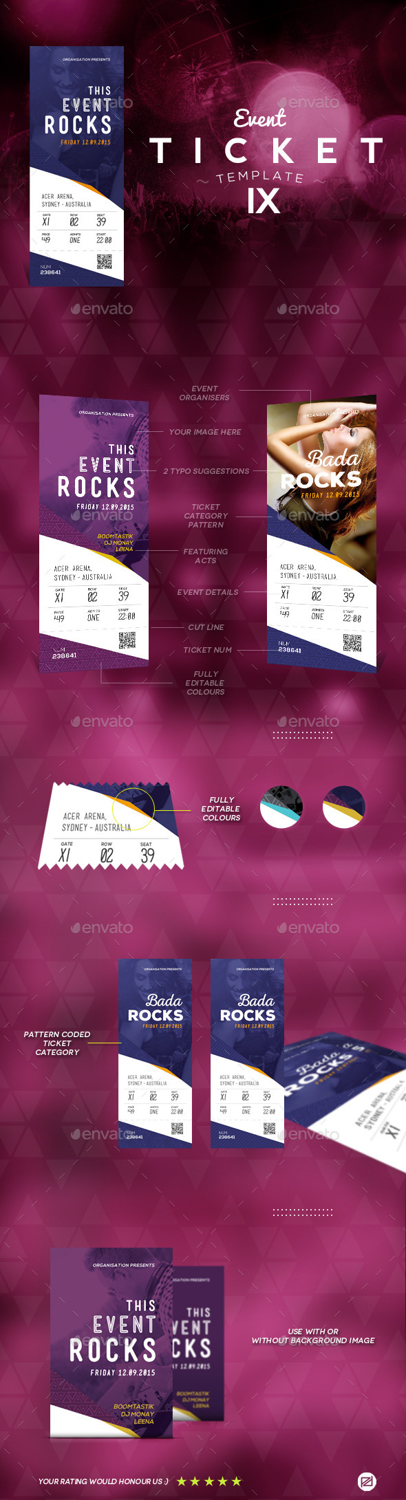 GraphicRiver Events Ticket Template 9 9162828
