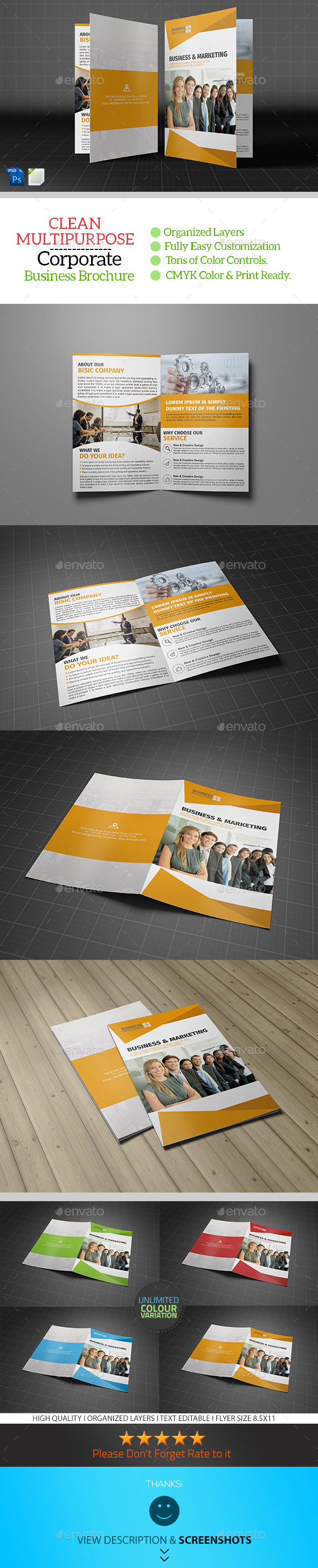 GraphicRiver Corporate Bifold Brochure Template Vol03 9163375