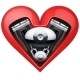 Metal Engine Inside a Red Heart - GraphicRiver Item for Sale