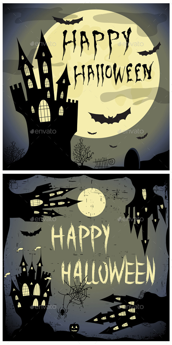 GraphicRiver Halloween Backgrounds 9163806