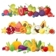 Fruits Vegetables and Berries Borders - GraphicRiver Item for Sale