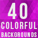 40 Colorful Backgrounds (Pack 1) - GraphicRiver Item for Sale