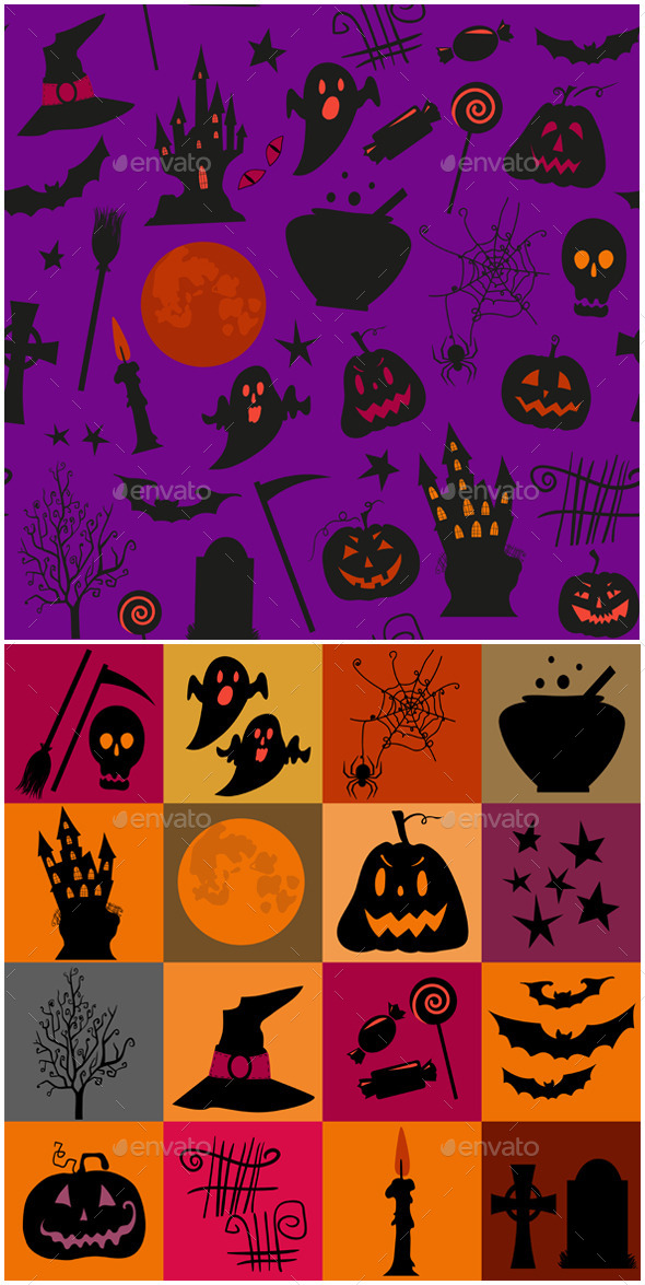 GraphicRiver Halloween Set 9164461