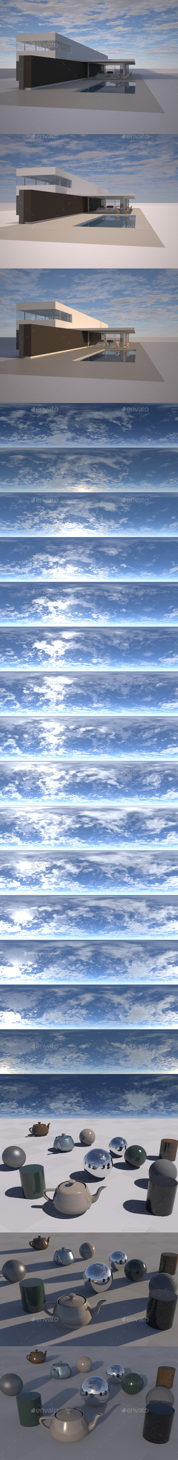 3DOcean Sky with Clouds Pack Timelapse 16 EXR HDR pics 9130797