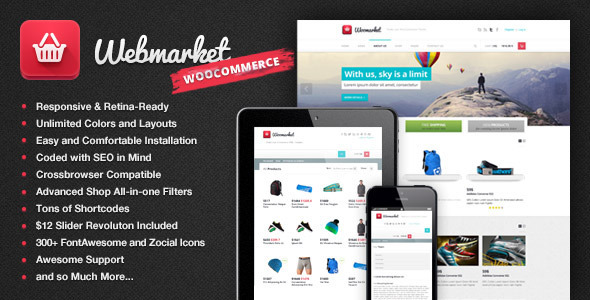 Webmarket - WP Theme for Advanced Online Shops - WooCommerce eCommerce