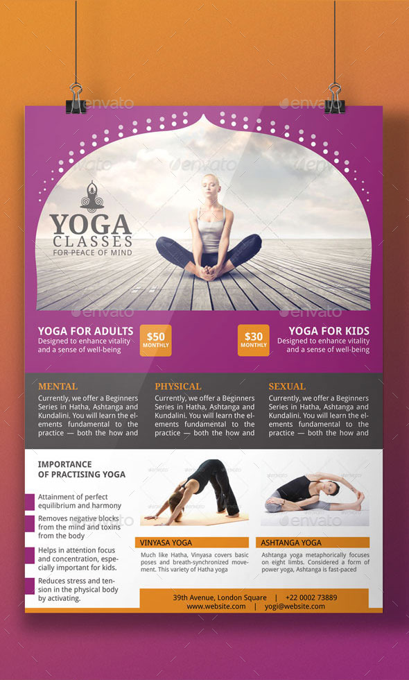 Yoga Flyer Template by BloganKids – Yoga Flyer