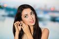 Portrait of smiling brunette - PhotoDune Item for Sale