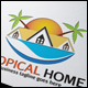 Tropical Home Logo - GraphicRiver Item for Sale