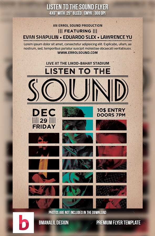 GraphicRiver Listen to the Sound Flyer 9165029