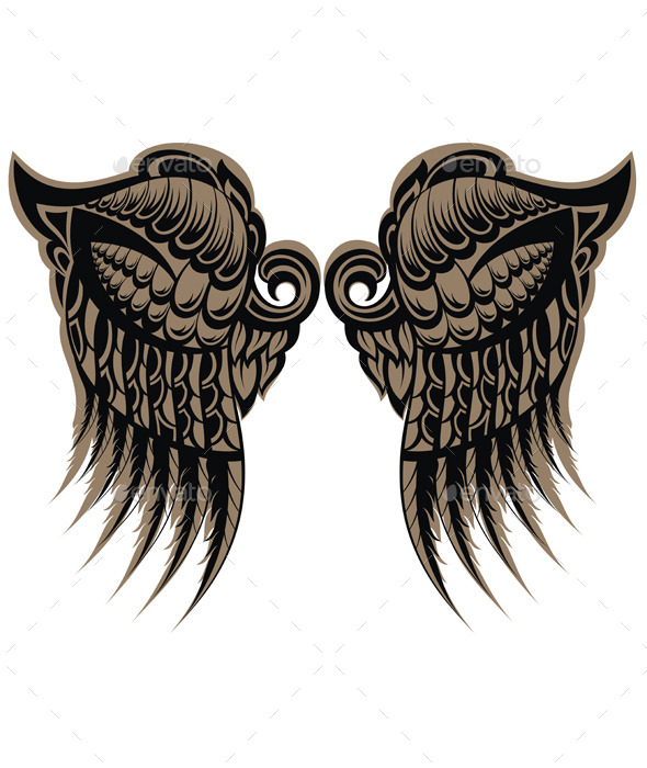 GraphicRiver Winged Tattoo 9165152