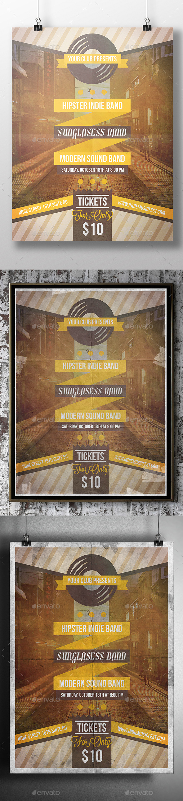 GraphicRiver Music Gig Poster Party Flyer 9165349