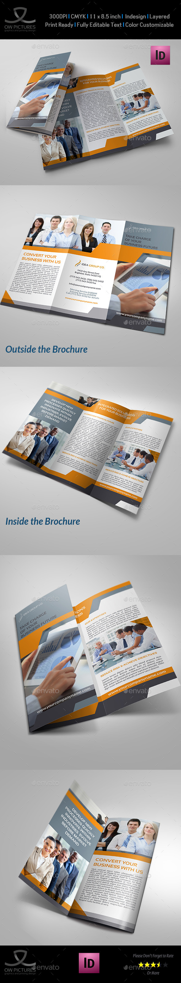 GraphicRiver Company Brochure Tri-Fold Template Vol.16 9165799