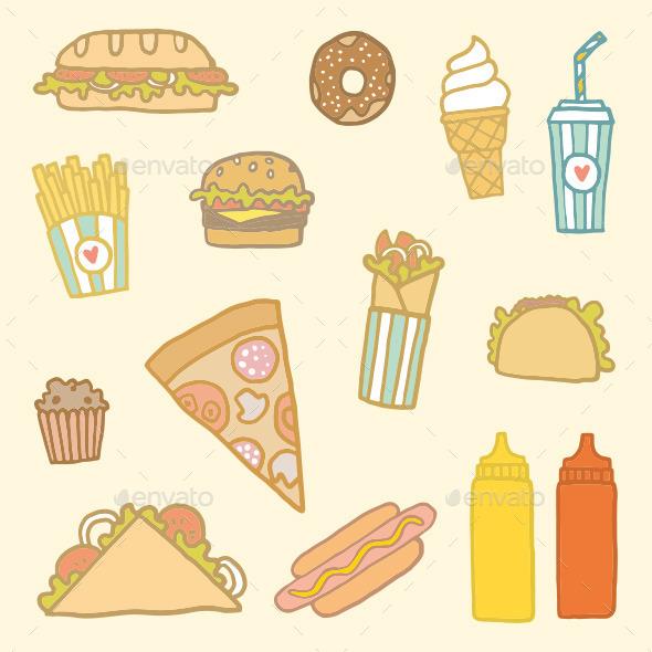 GraphicRiver Fastfood Set 9166260