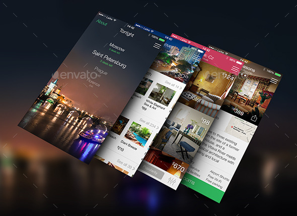 GraphicRiver Travelbook Hotel Booking App UI 9103361