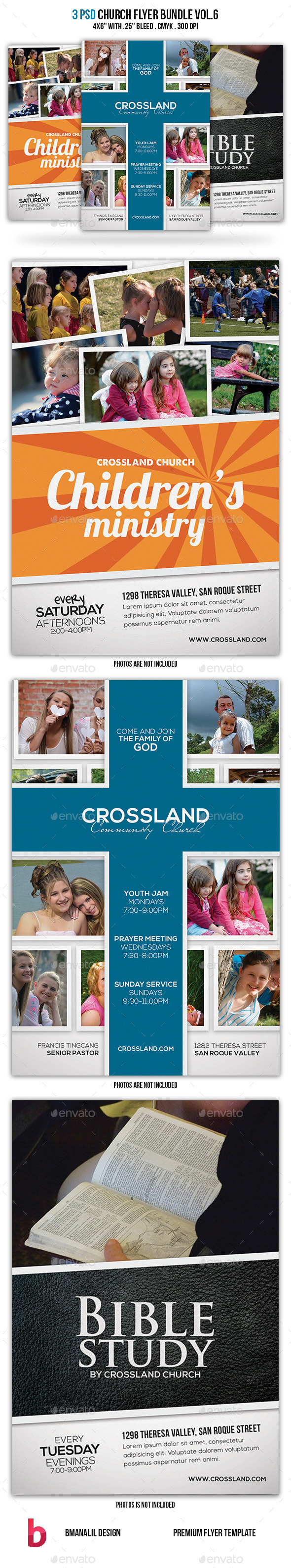 GraphicRiver Church Flyer Bundle Vol.6 9166312