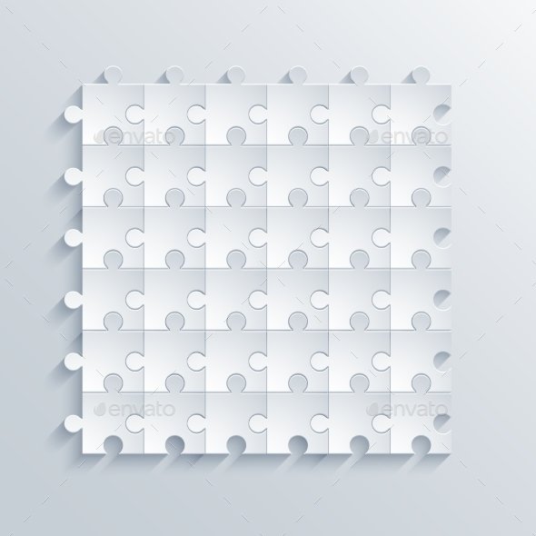 GraphicRiver Vector Modern Puzzle Background 9166446