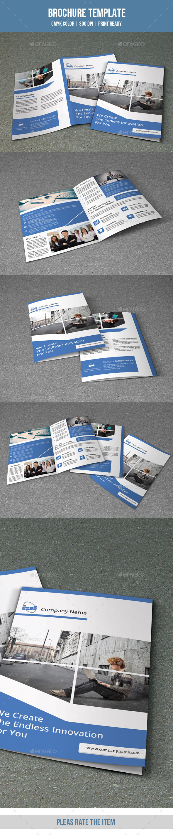 GraphicRiver Bifold Business Brochure-V145 9166653