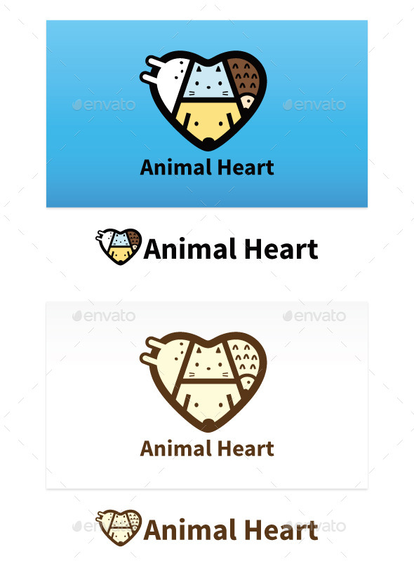 GraphicRiver Animal Heart 9102339