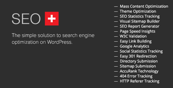 SEO+ is the easiest and fastest solution for optimizing your WordPress website for the search engines. With all the built in tools you'll need, your websi