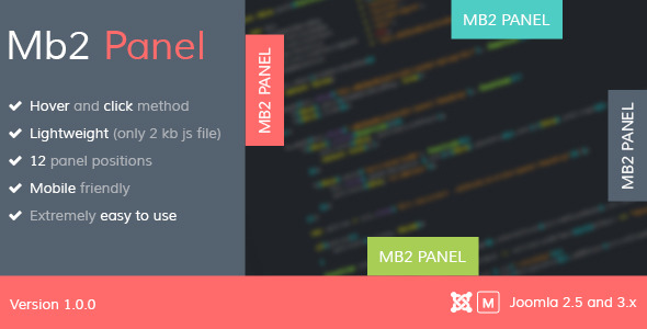 CodeCanyon Mb2 Panel Joomla Module 9055737
