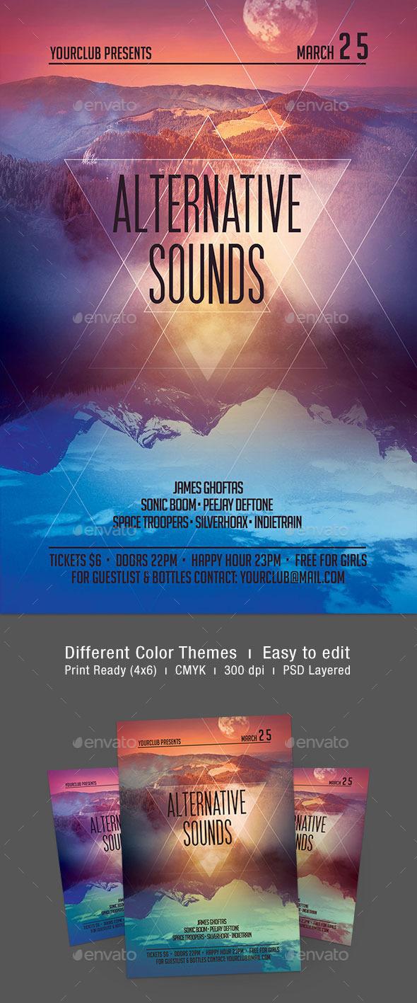 Alternative Sounds Flyer - Concerts Events