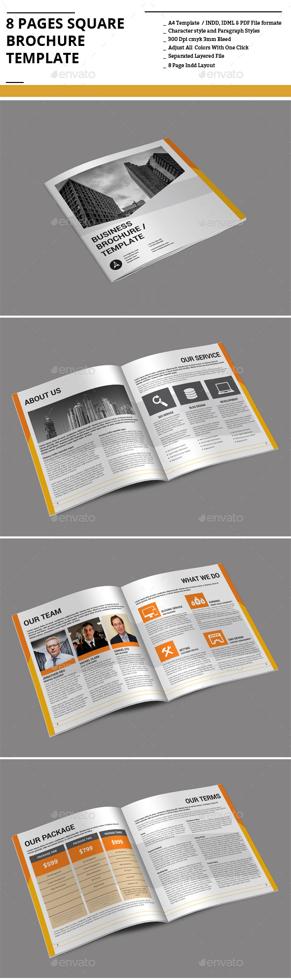 GraphicRiver 8 Pages Square Brochure Template 9167784