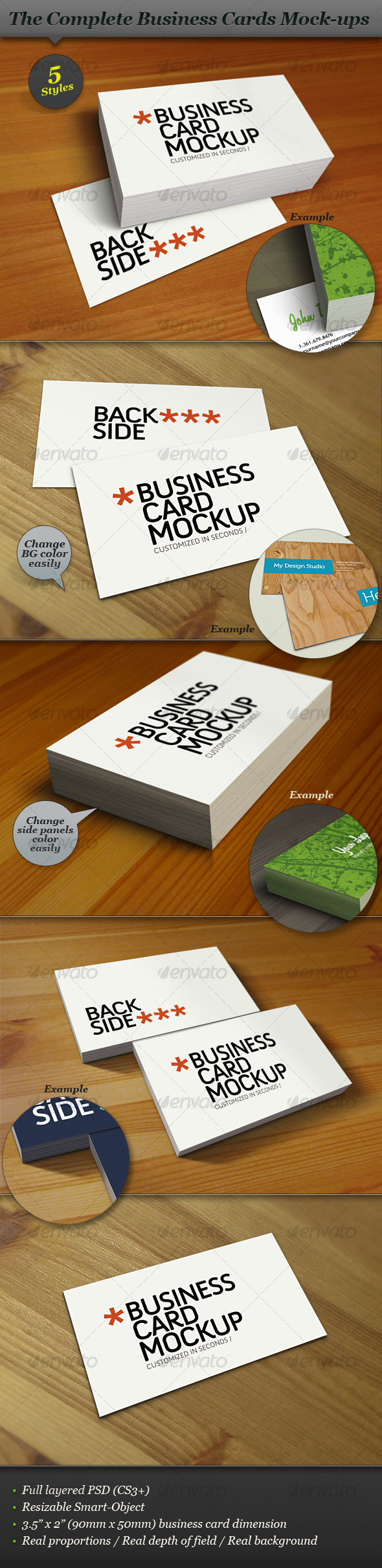 GraphicRiver Business Card Mock-up Smart Template Pack 118210
