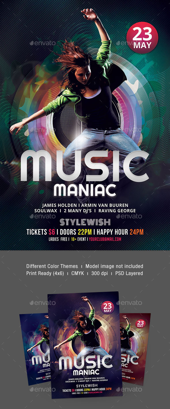 Music Maniac Flyer - Clubs & Parties Events