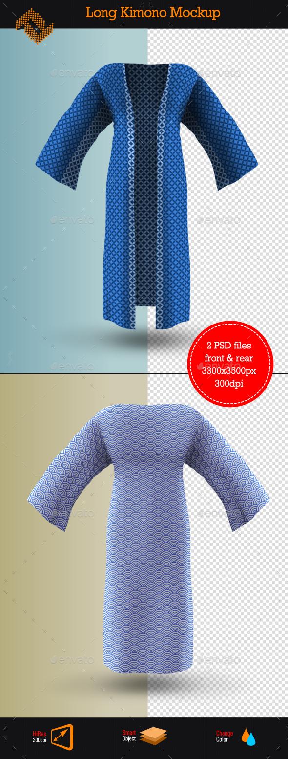 GraphicRiver Long Kimono Mockup 9168041