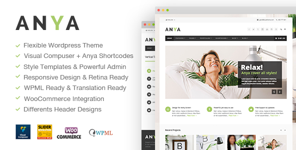 ThemeForest Anya Fresh Business & Ecommerce Wordpress Theme 9169237
