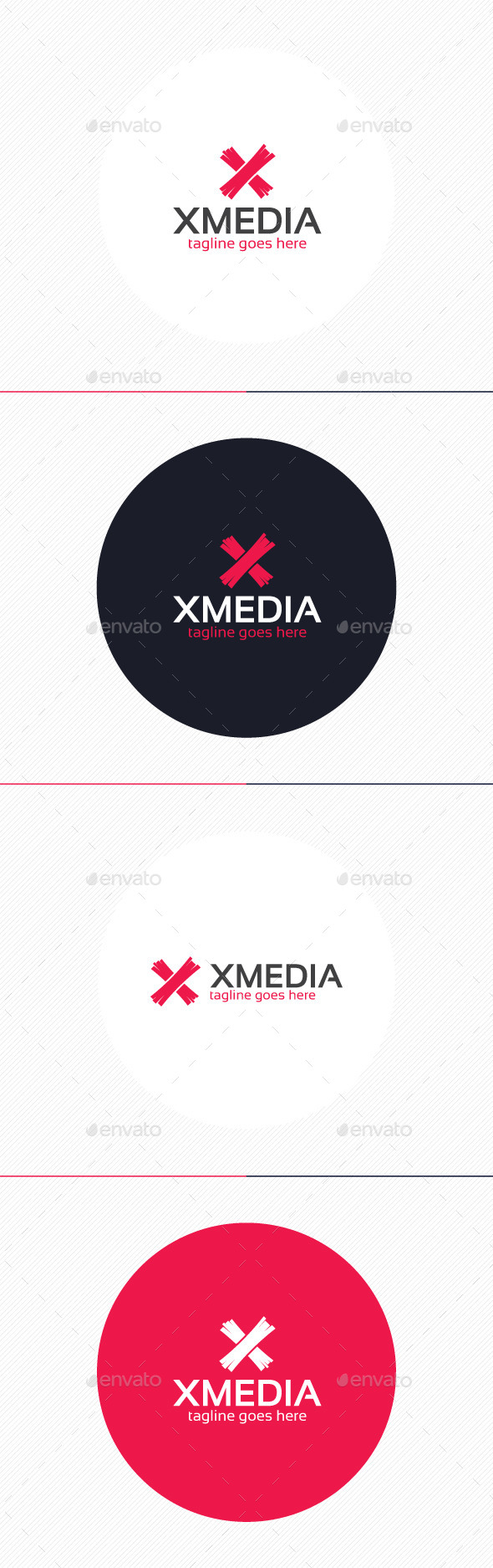 GraphicRiver X Media Logo Letter X 9169356