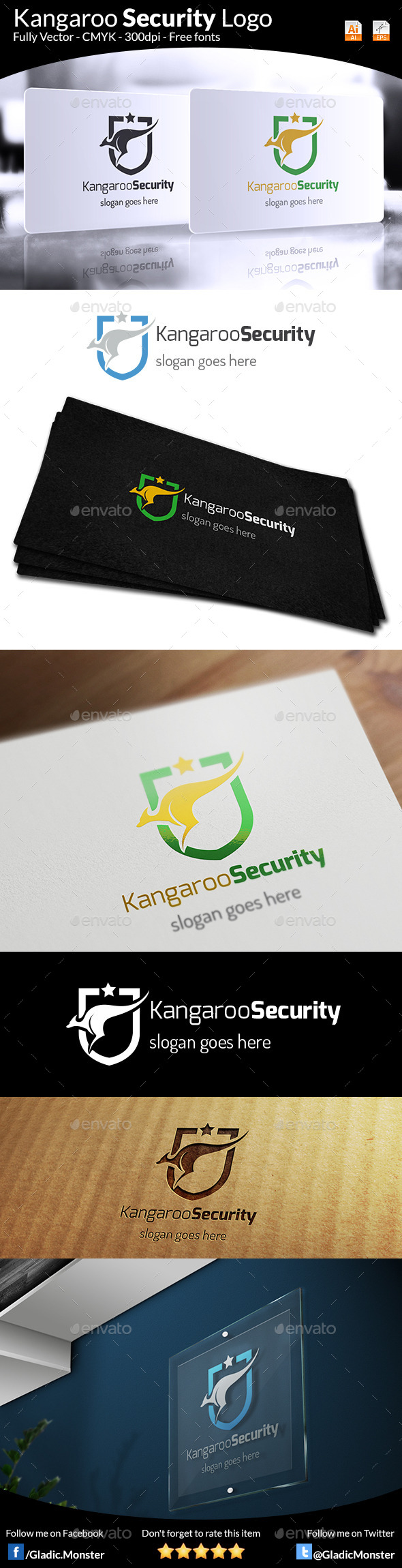 GraphicRiver Kangaroo Security Logo 9169414