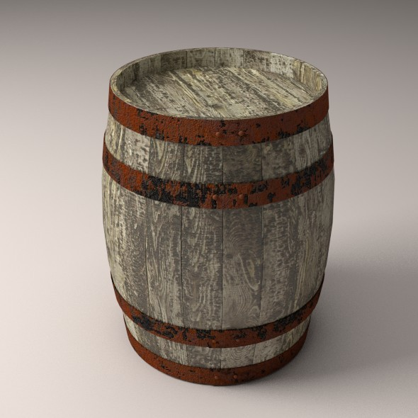 3DOcean Old Wooden Barrel 9169473