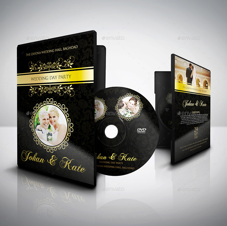 wedding dvd cover and dvd label template vol 3 by owpictures