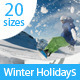 Winter Holidays Web Ad Banners - GraphicRiver Item for Sale