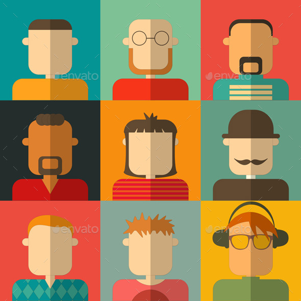 GraphicRiver People Flat Icons 9170409