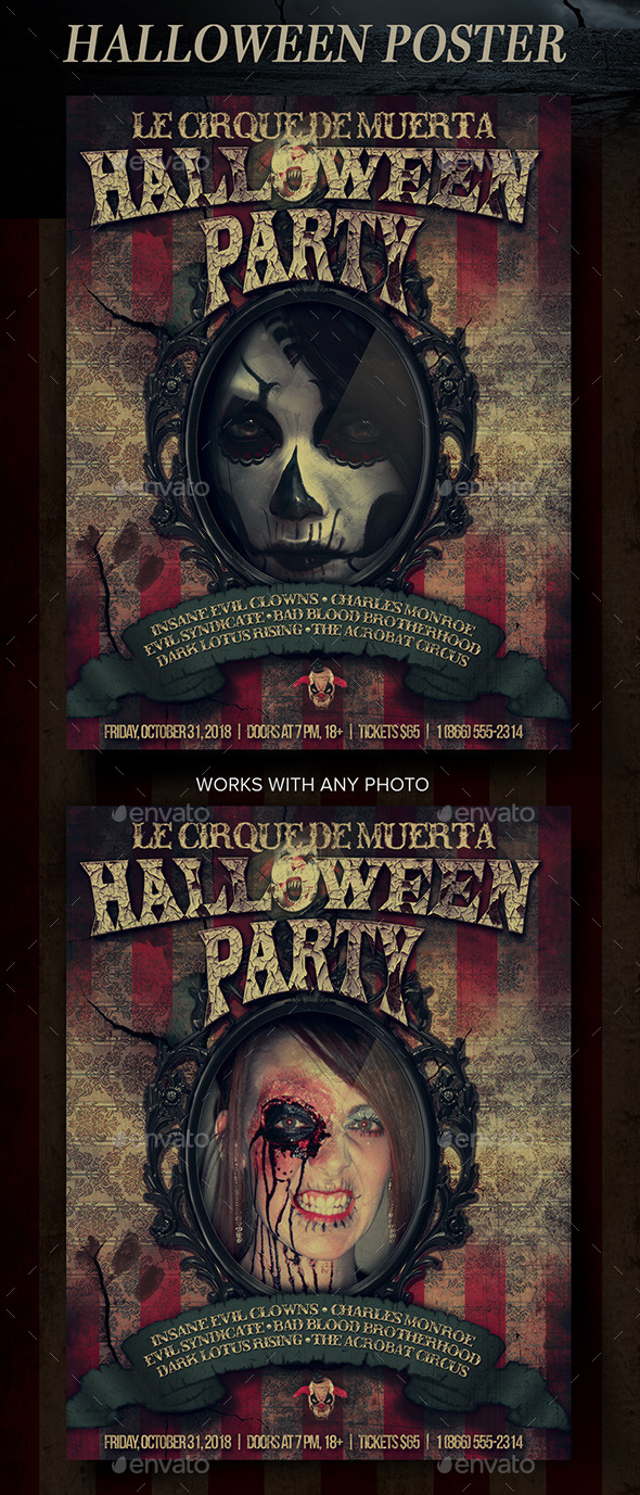 GraphicRiver Halloween Mirror Poster 9170508