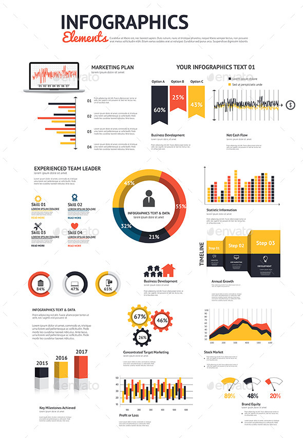 GraphicRiver Big Set of Infographic Elements 9170514