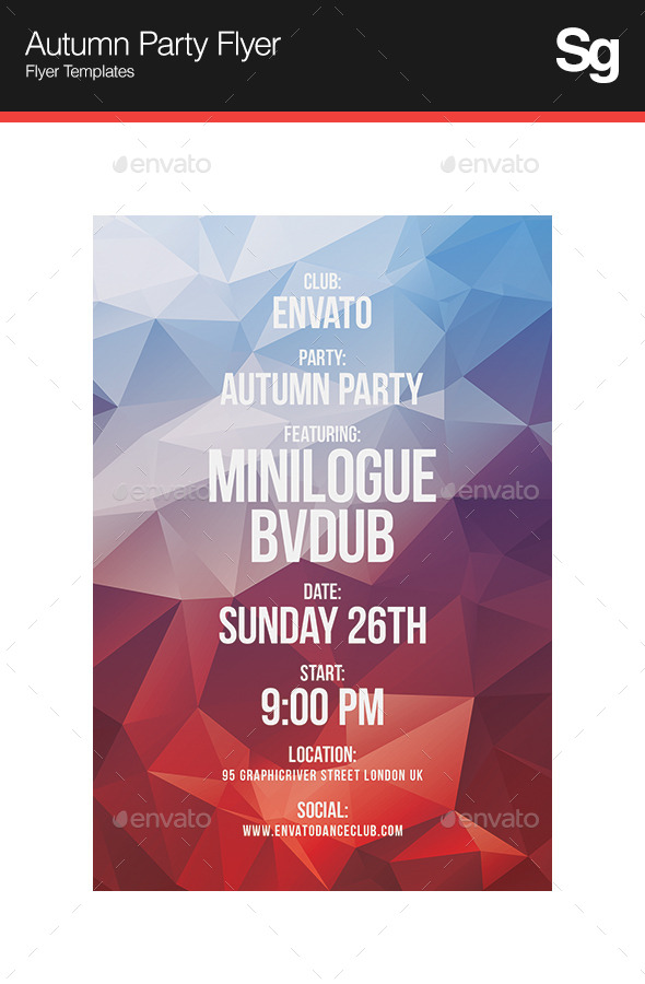 GraphicRiver Autumn Party Flyer 9157279