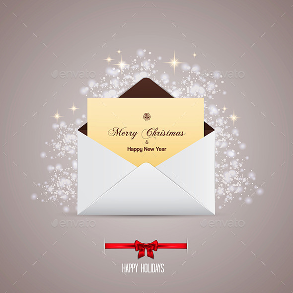 GraphicRiver Envelope and Greeting Card Merry Christmas 9170672