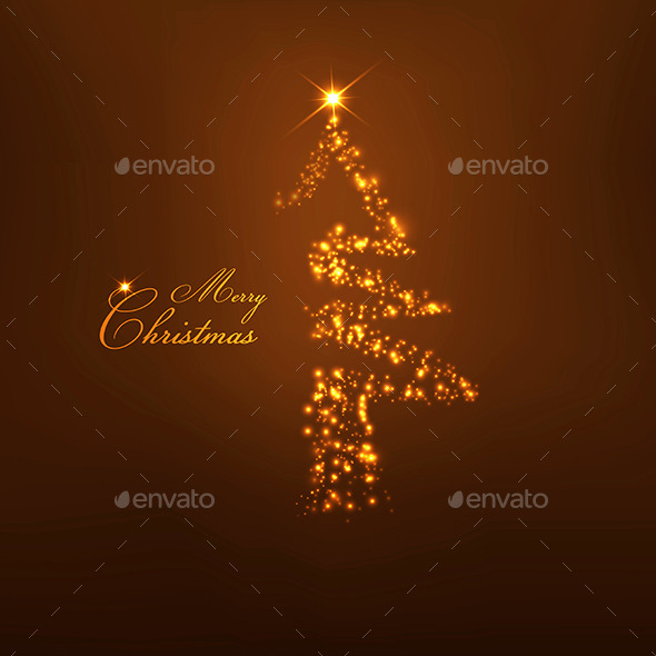 GraphicRiver Christmas Tree from Light 9170787