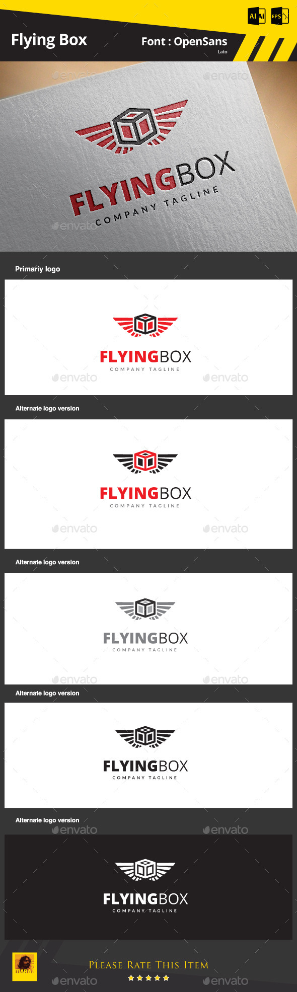 GraphicRiver Flying Box 9170817
